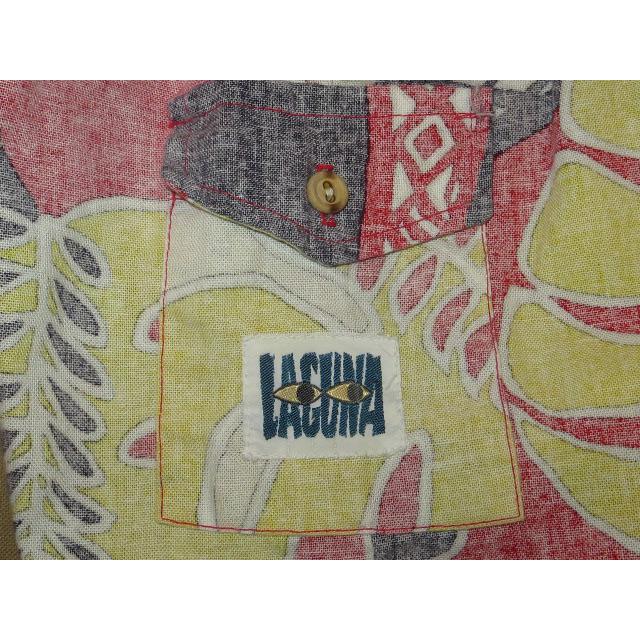 画像4: 古着 LAGUNA アロハ ハワイアン サーフ ビーチショーツ フラワー柄 80's/140803
