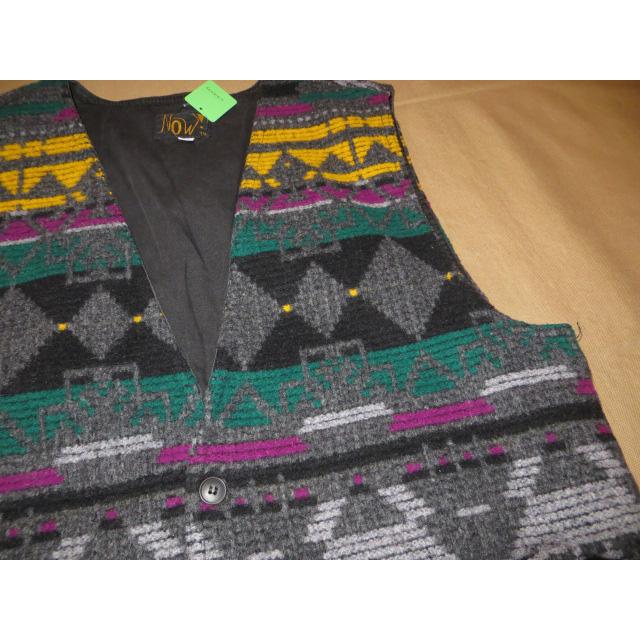 画像3: 古着 NOW 民族調 ネイティヴ調 ウール ベスト アメリカ製 90's / 1401115