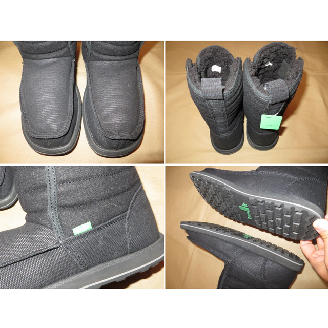 画像4: 新品 メンズ sanuk サヌーク 内ボア ブーツ BLK 00's /141210
