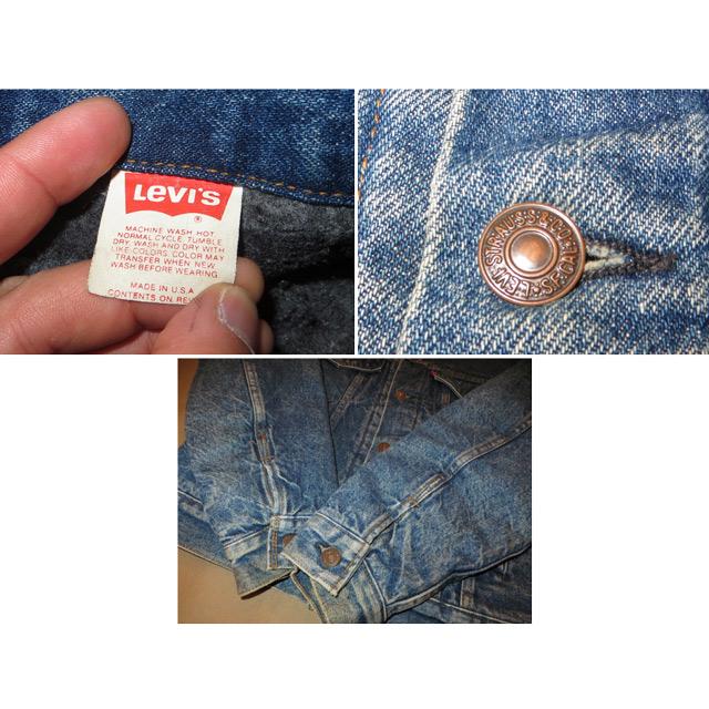 画像5: 古着 Levi's リーバイス 70506 ブランケット付き デニムジャケット Gジャン USA製 80's / 150212