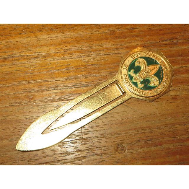 画像2: デッドストック アンティーク BOY SCOUT BSA ボーイスカウト BOOK MARK LETTER OPENER  / 150224