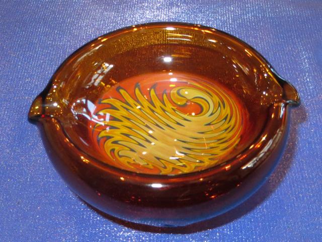画像1: 新品 グラスアート GLASS ARTS ハンドメイド 灰皿 ashtray アシュトレイ 15-MAR-8 / 150326
