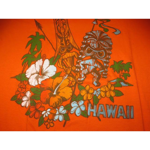 画像3: 古着 HAWAII ハワイ TIKI アロハ レギュラー プリント Tシャツ ORG USA製 80's / 150527