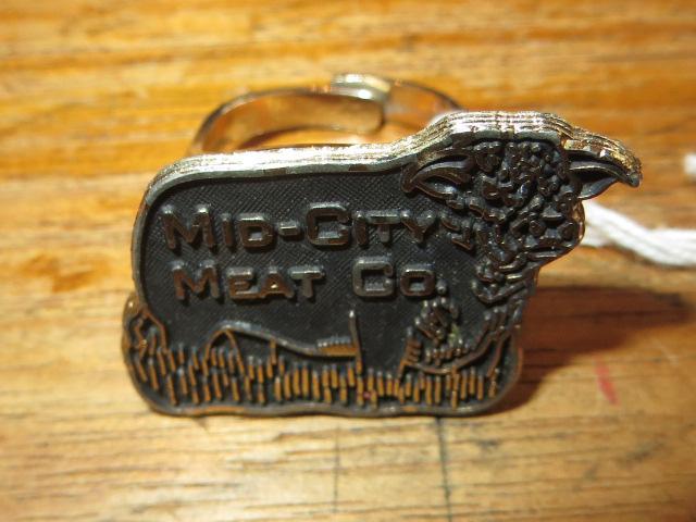 画像1: アンティーク MID-CITY MEAT Co. 牛 デザインリング / 150602