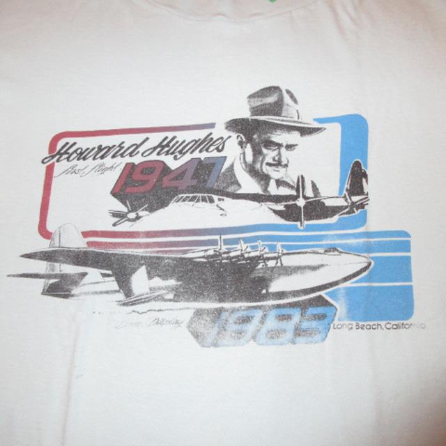 画像3: 古着 Howard Hughes ハワードニューズ 著名人 有名人 Tシャツ SAX 80's / 150713