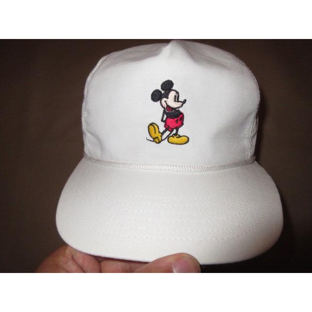 画像2: 美品 MICKEY MOUSE ミッキーマウス DISNEY ディズニー オフィシャル CAP キャップ 帽子 WHT 80's / 150717