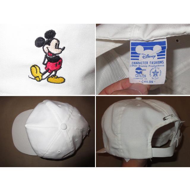 画像3: 美品 MICKEY MOUSE ミッキーマウス DISNEY ディズニー オフィシャル CAP キャップ 帽子 WHT 80's / 150717