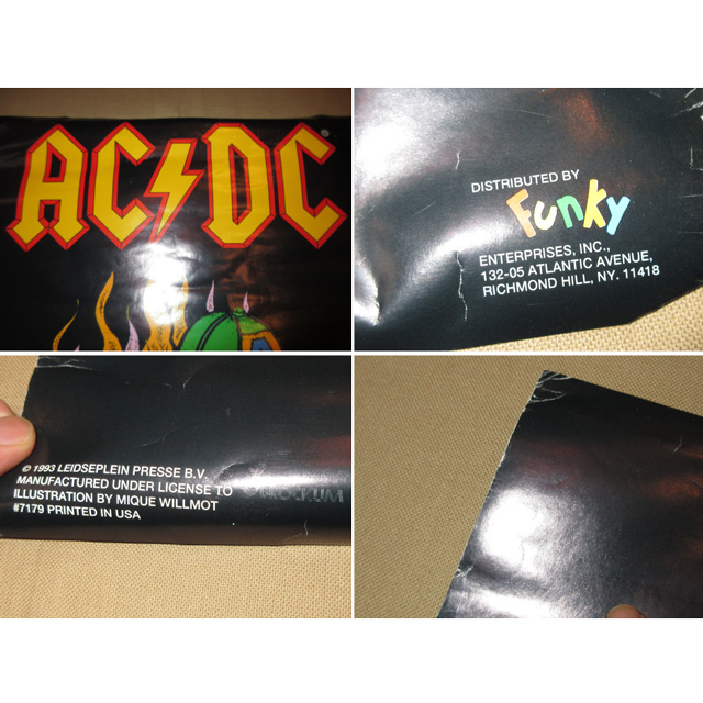 画像3: デッドストック AC DC ARE YOU READY? ミュージックポスター 90's / 150806
