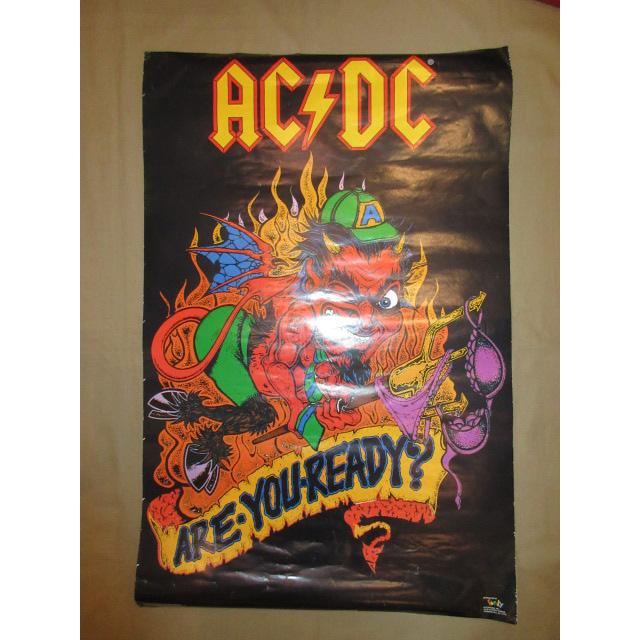 画像1: デッドストック AC DC ARE YOU READY? ミュージックポスター 90's / 150806