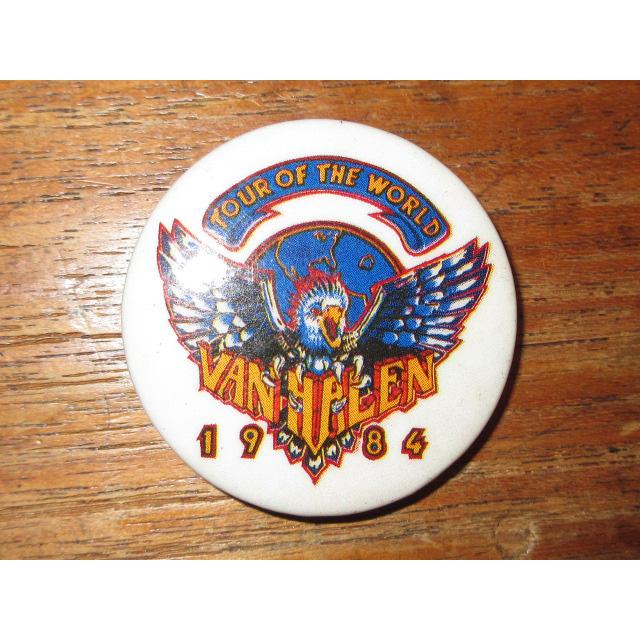 画像1: 古着 VAN HALEN ヴァンヘイレン 1984 缶バッジ 80's / 150806