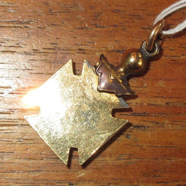 画像2: アンティーク ORDER OF MOOSE 友愛団体 エンブレム テンプル騎士団 フリーメイソン ペンダントトップ SIL / 151112