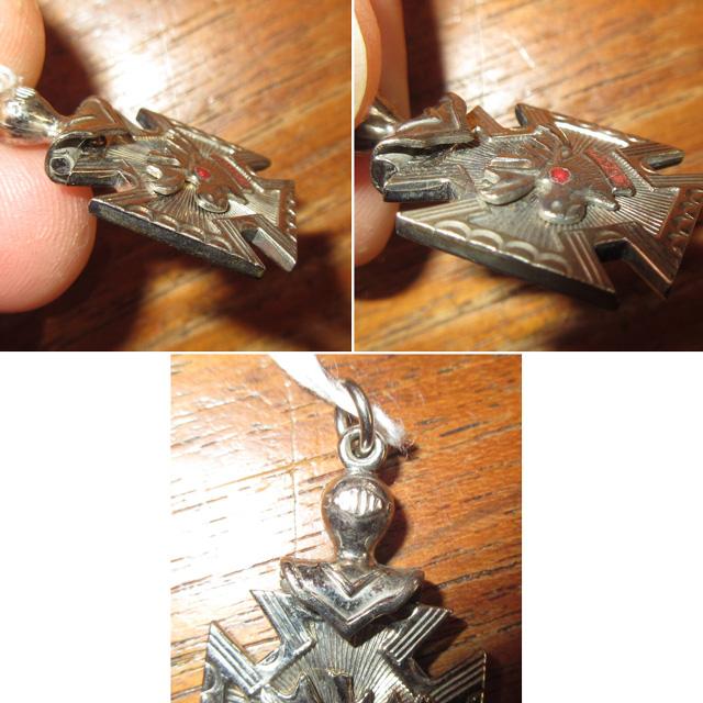 画像3: アンティーク ORDER OF MOOSE 友愛団体 エンブレム テンプル騎士団 フリーメイソン ペンダントトップ SIL2 / 151112