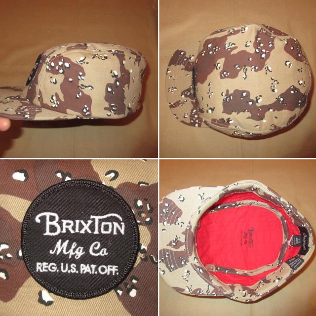 画像3: 新品 BRIXTON ブリクストン チョコチップカモ 迷彩 キャップ CAP 帽子 BEI 00's / 151117