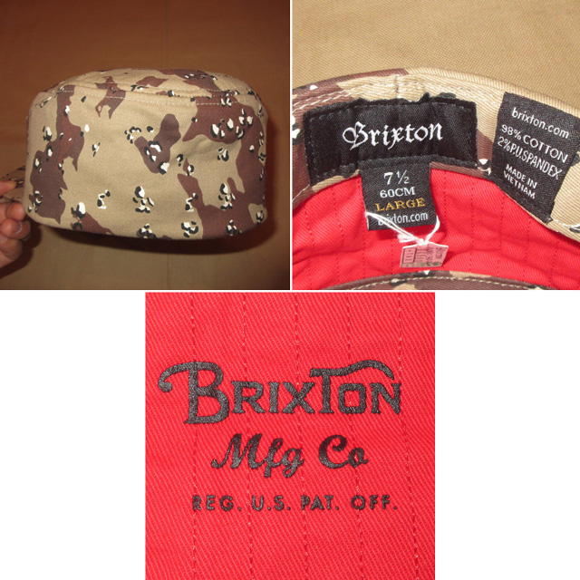 画像4: 新品 BRIXTON ブリクストン チョコチップカモ 迷彩 キャップ CAP 帽子 BEI 00's / 151117