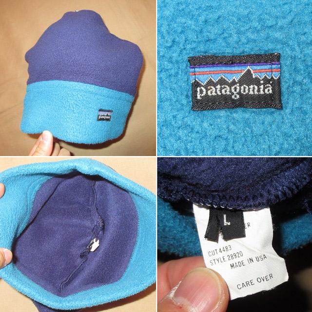 画像4: 古着 patagonia パタゴニア alpine hat アルパインハット フリース キャップ CAP 帽子 NVY/BLUE USA製 90's / 151219