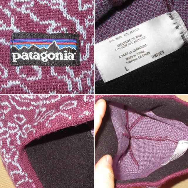 画像3: 古着 patagonia パタゴニア 総柄 ニットキャップ 帽子 PUP 00's / 160202