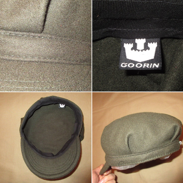 画像4: 古着 GOORIN グーリン メルトン ウール混 ワークキャップ CAP 帽子 OLV 00's / 160202