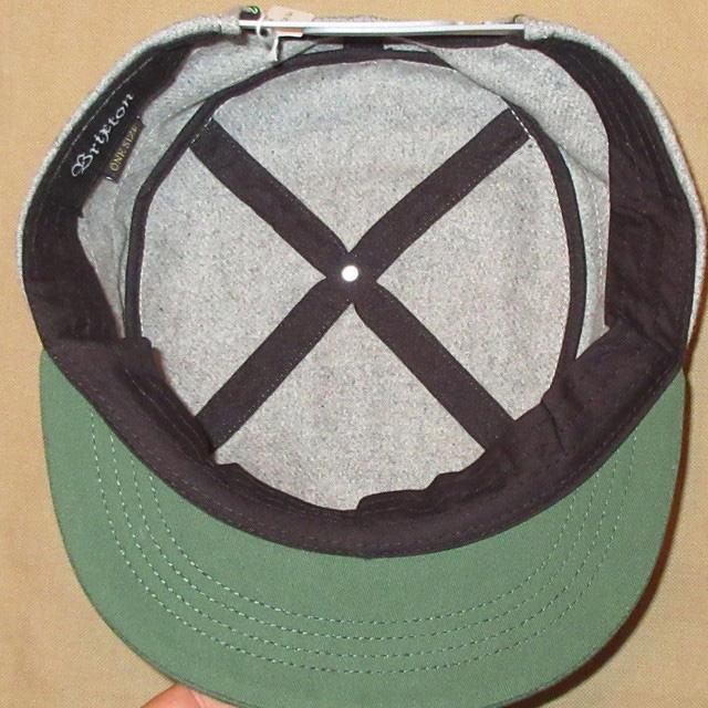 画像4: 【現在HOLD!】新品 BRIXTON ブリクストン ウールキャップ CAP 帽子 GRY/GRN 00's / 160202