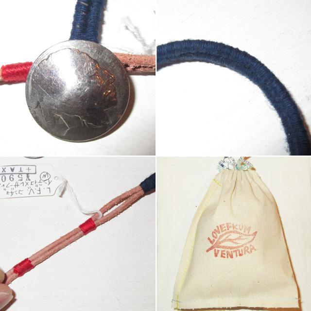 画像3: 新品 USA製 LOVE FROM VENTURA 絣 藍染 インディゴ アンティークコイン ハンドメイド ブレスレット 4 00's / 160312
