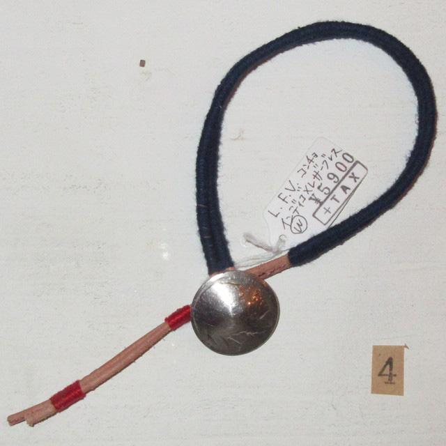 画像2: 新品 USA製 LOVE FROM VENTURA 絣 藍染 インディゴ アンティークコイン ハンドメイド ブレスレット 4 00's / 160312