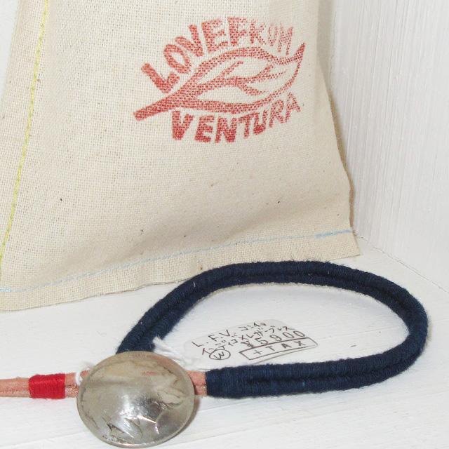画像1: 新品 USA製 LOVE FROM VENTURA 絣 藍染 インディゴ アンティークコイン ハンドメイド ブレスレット 4 00's / 160312