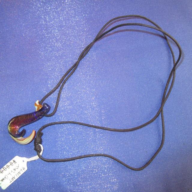 画像3: 新品 グラスアート GLASS ARTS ハンドメイド ガラス ペンダント FISHFOOK b 16-APL-3 / 160507
