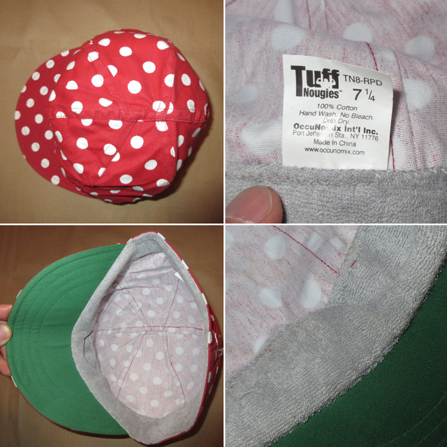 画像4: 新品 Tuff Nougies ドット柄 コットンキャップ CAP 帽子 RED/WHT 00's / 160517