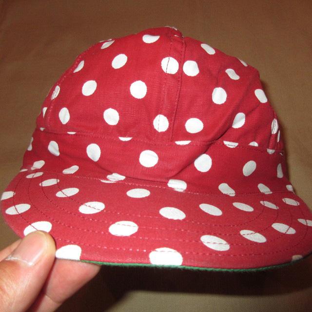 画像2: 新品 Tuff Nougies ドット柄 コットンキャップ CAP 帽子 RED/WHT 00's / 160517