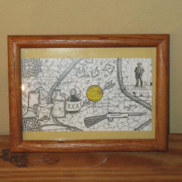 画像1: Kalen Blackburn カレンブラックバーン アーティスト ポストカード 額縁入り ポスター アート作品 インテリア 00's / 160529