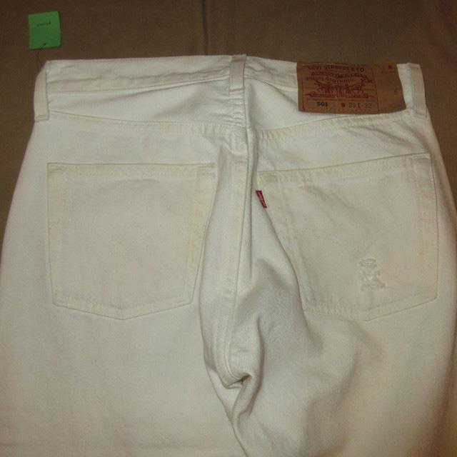 画像3: 古着 USA製 Levi's 501 リーバイス クラッシュ ホワイト ジーンズ デニムパンツ WHT 90's /160606