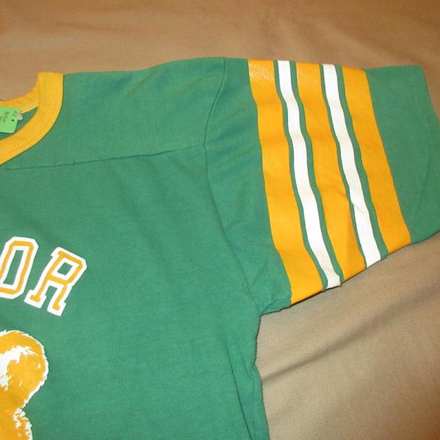 画像4: 古着 BAYLOR BEARS カレッジ フットボール Tシャツ GRN/YEL 80's / 160618