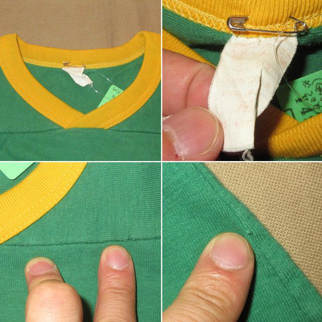 画像5: 古着 BAYLOR BEARS カレッジ フットボール Tシャツ GRN/YEL 80's / 160618