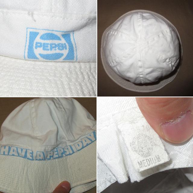 画像3: 古着 PEPSI COLA ペプシコーラ コットンハット 帽子 WHT 80's / 160627