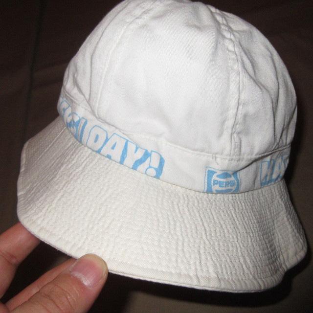 画像2: 古着 PEPSI COLA ペプシコーラ コットンハット 帽子 WHT 80's / 160627