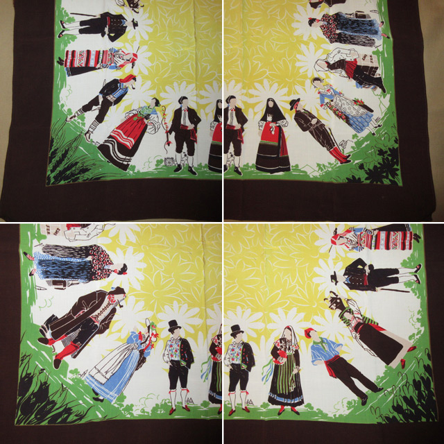 画像2: アンティーク 民族衣装 スカーフ ヴィンテージ 70's / 160630