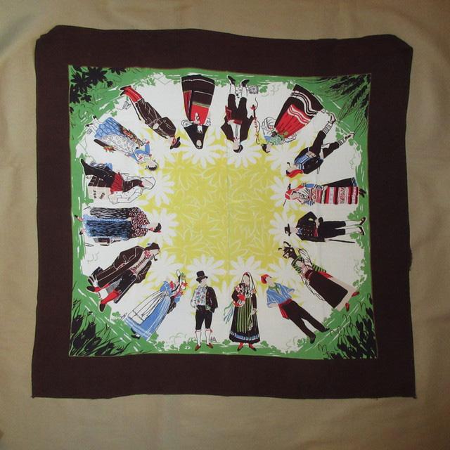 画像1: アンティーク 民族衣装 スカーフ ヴィンテージ 70's / 160630
