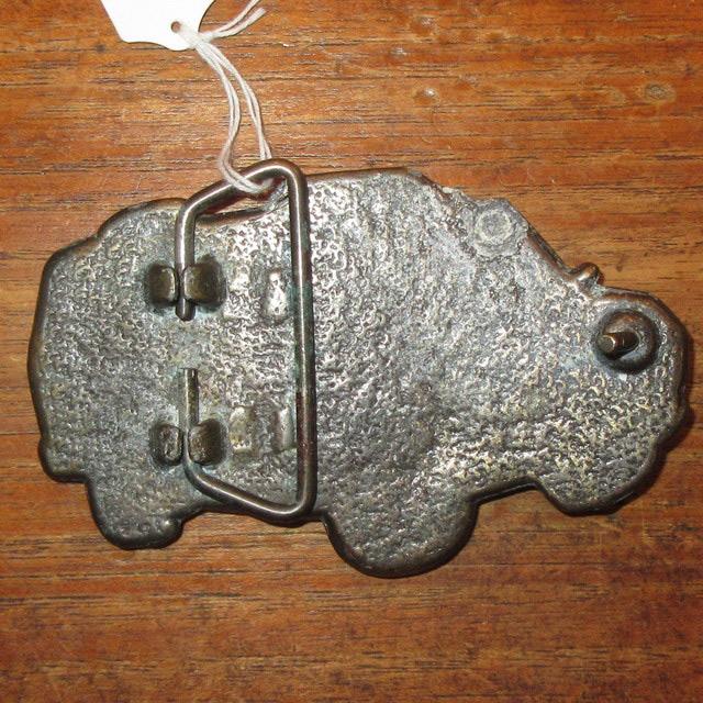画像2: アンティーク ダッジバン モーターサイクル ブラス バックル 真鍮 70's / 160630