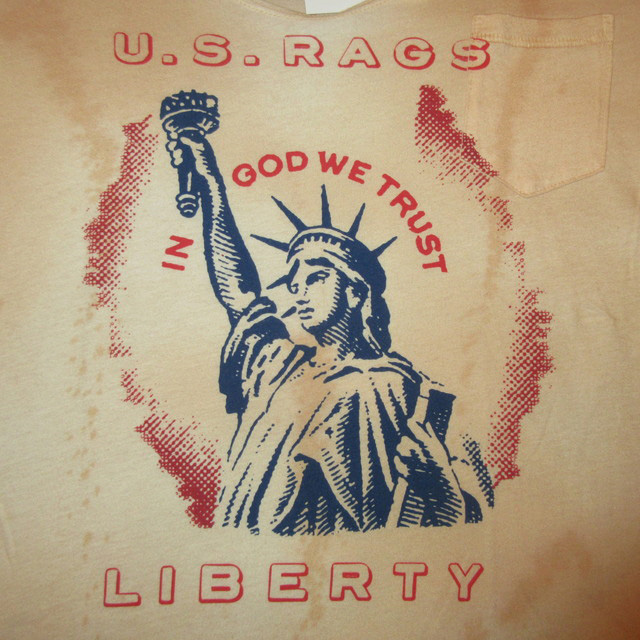 画像3: 新品 US RAGS ユーエスラグス 自由の女神 胸ポケ Tシャツ BEI USA製 00's / 160713