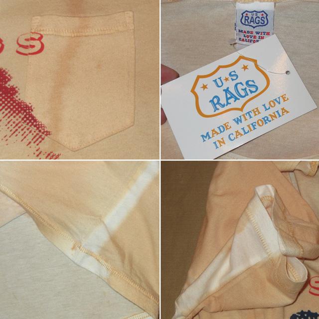 画像5: 新品 US RAGS ユーエスラグス 自由の女神 胸ポケ Tシャツ BEI USA製 00's / 160713