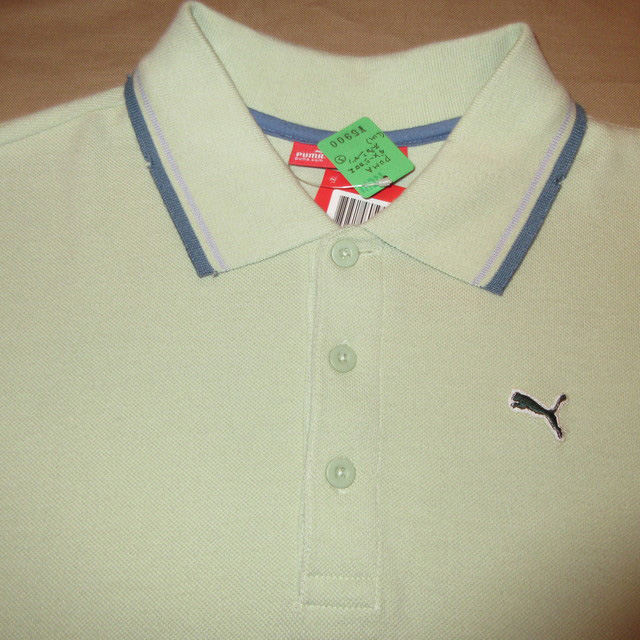 画像3: 新品 PUMA プーマ ダメージ加工 ポロシャツ GRN 00's / 160802