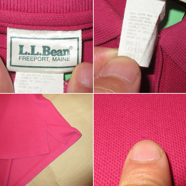 画像4: 古着 USA製 L.L.Bean LLビーン ポロシャツ PNK 90's / 160802