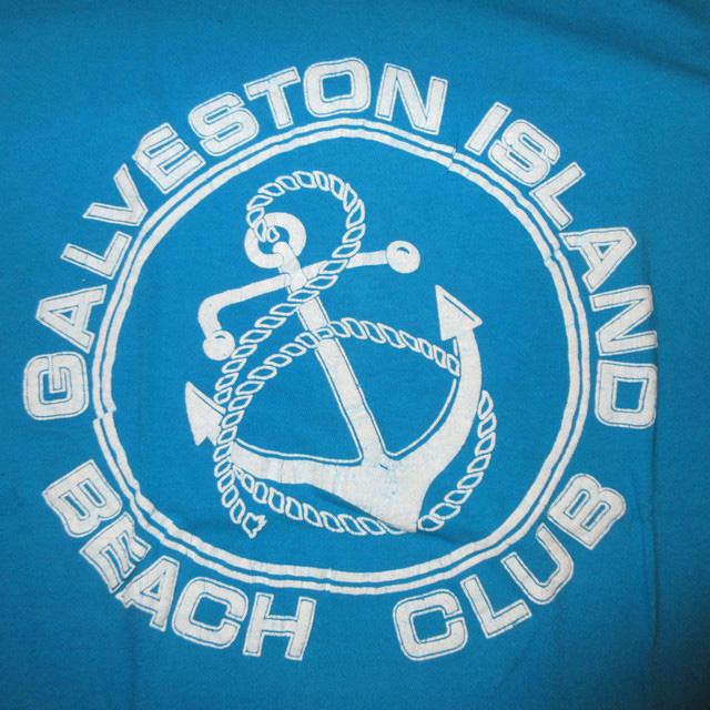 画像3: 古着 GALVESTON ISLAND BEACH CLUB マリンテイスト Tシャツ TUQ 80's / 160804