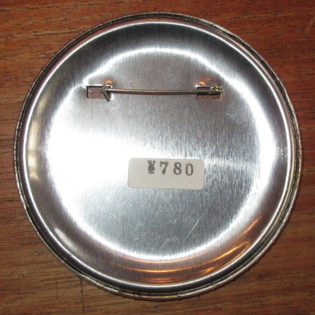 画像2: ヴィンテージ Rod Stewart ロッドスチュワート ビッグサイズ 缶バッジ 80's / 160810