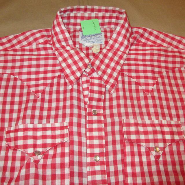 画像3: 古着 Rockmount ロックマウント ギンガムチェックシャツ RED/WHT 80's /160829