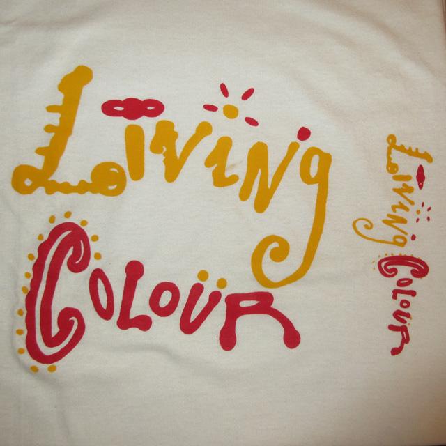 画像3: 古着 Living Colour リヴィングカラー ブラックロック ロゴTシャツ 90's / 150313