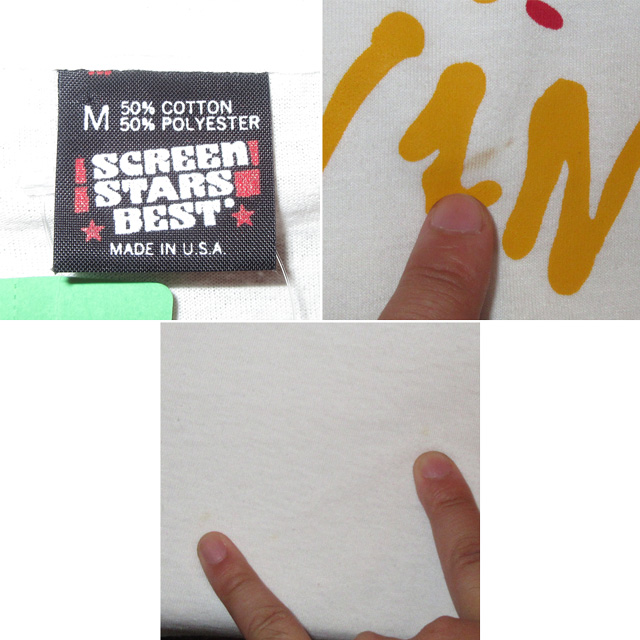 画像4: 古着 Living Colour リヴィングカラー ブラックロック ロゴTシャツ 90's / 150313