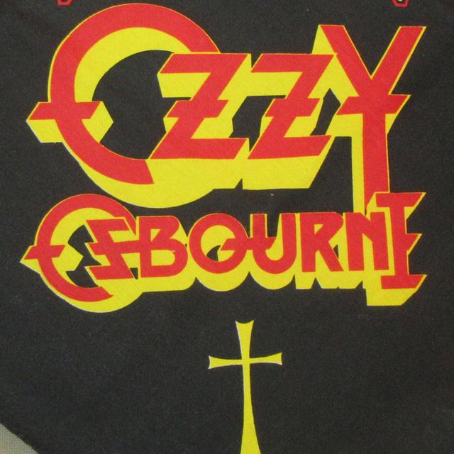 画像2: デッドストック 1984年 OZZY OSBOURNE オジーオズボーン バンダナ 80年代 /160904