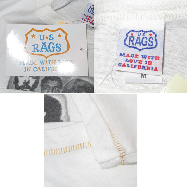 画像4: 新品 US RAGS ユーエスラグス 黒人革命家 Tシャツ WHT USA製 00's / 160905