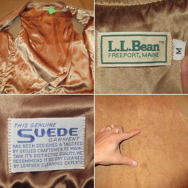 画像5: 古着 L.L.Bean エルエルビーン スウェードベスト BEI 80's / 161128