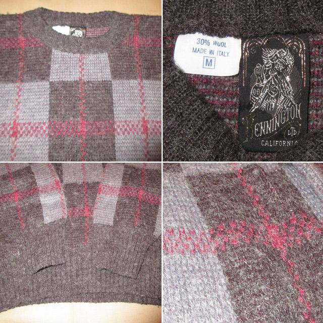 画像4: 古着 KENNINGTON ケニントン イタリア製 ニット セーター GRY/CHA 70's / 161206